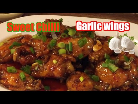 FINGER  LICKING  How To Make Sticky Sweet Chili  Garlic Wings