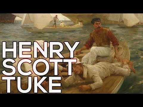 Henry Scott Tuke: A collection of 230 paintings (HD)