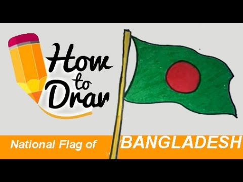 how to draw National Flag of Bangladesh step by step