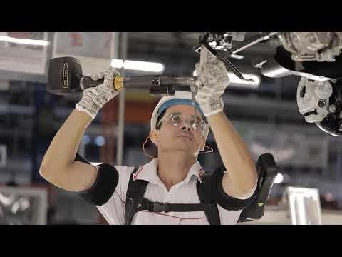 Comau MATE exoskeleton for FCA LATAM