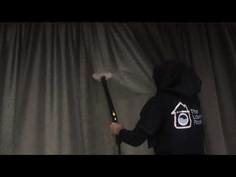 TLP: CLEAN CURTAINS WHILE THEY ARE HUNG ON THE RAILS
