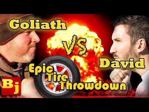 Epic Tire Throw Down Challenge Battle!!!!