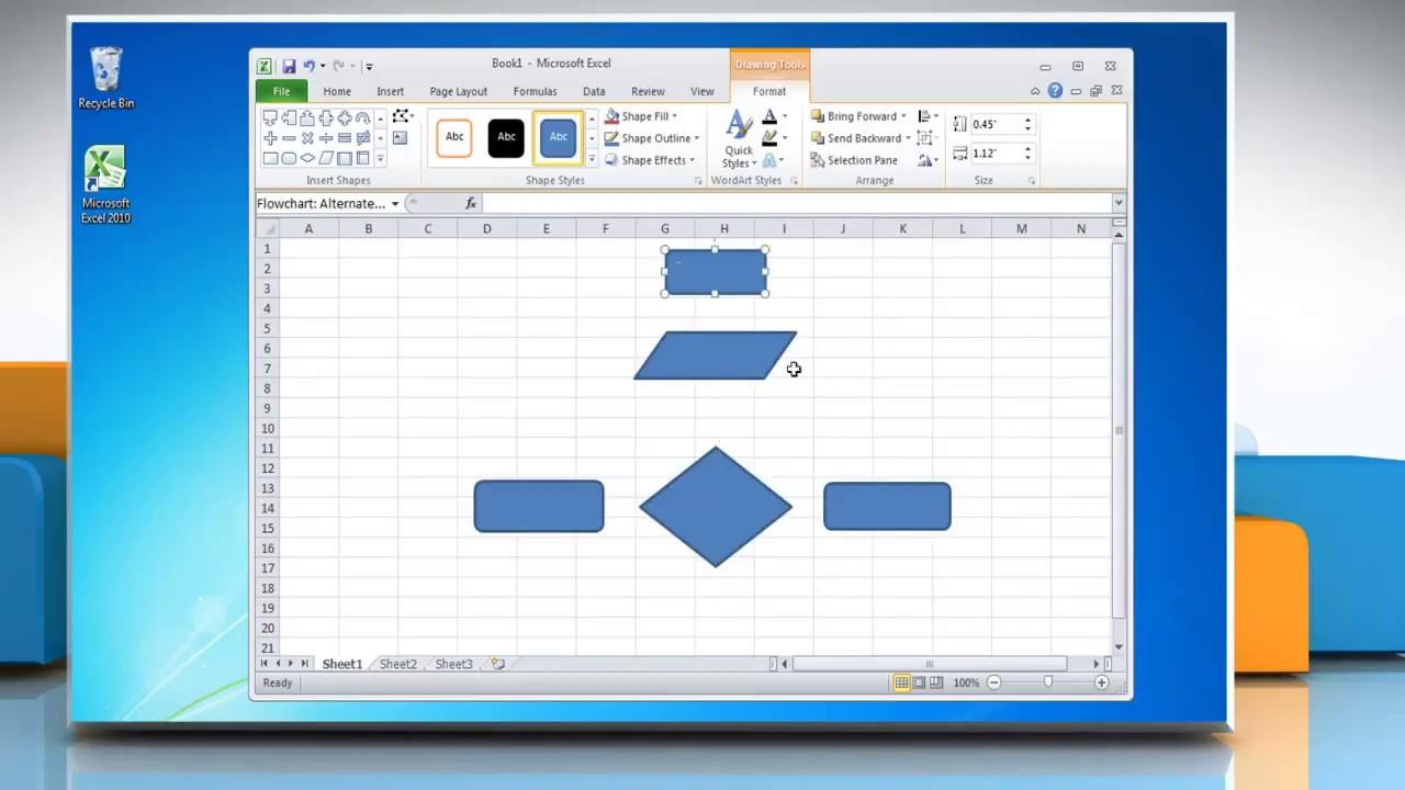 data flow diagram microsoft excel