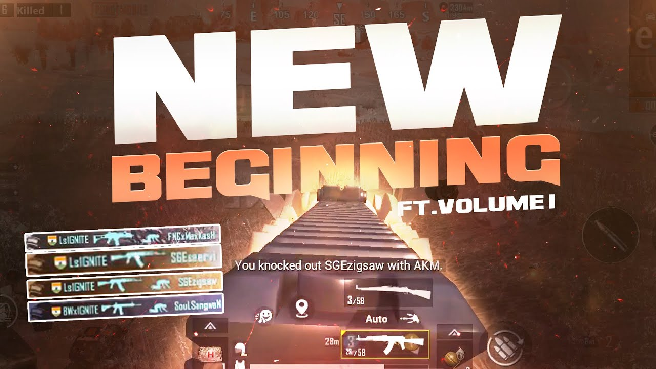 New Beginning | T1 Scrims Montage | Pubg Mobile | Feat Volume1