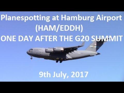 Planespotting at Hamburg Airport After G20 Summit
