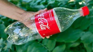 Подвесное кашпо из пластиковой бутылки для сада и дачи