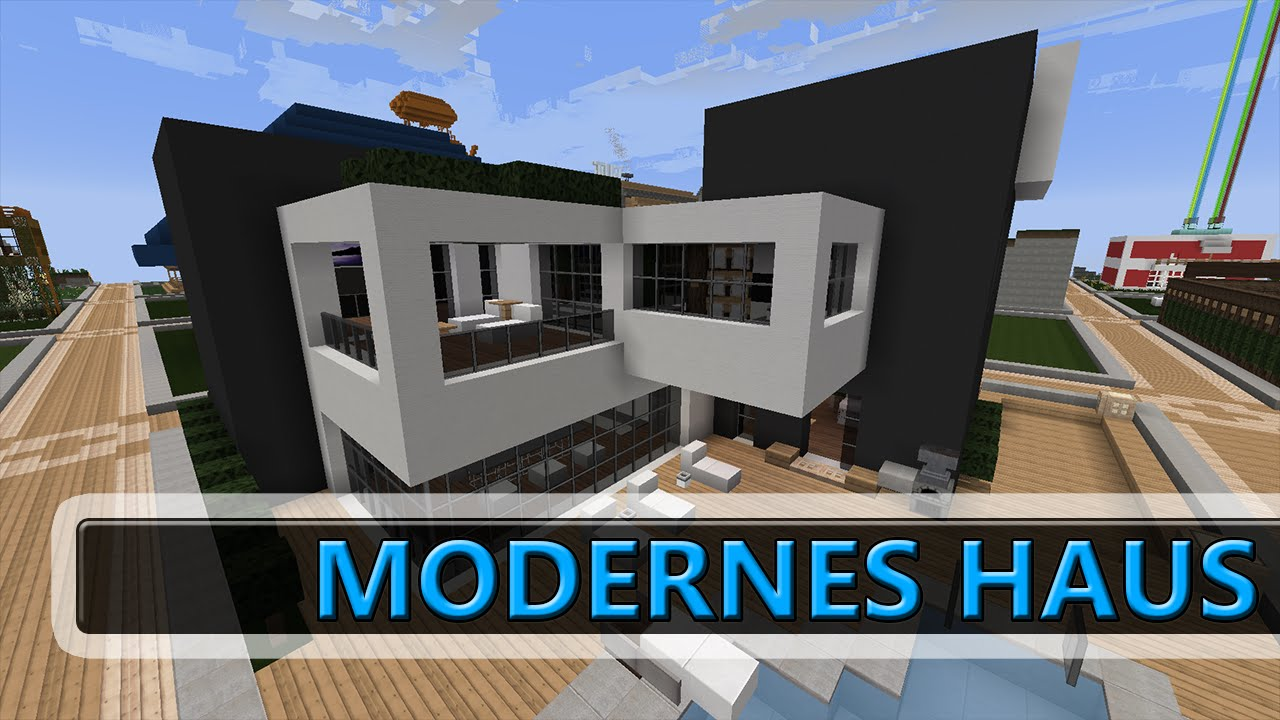 Modernes haus minecraft multiplayer plotwelt 32x32 youtube