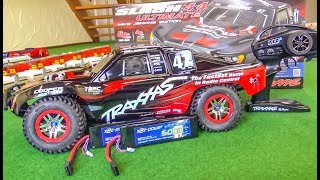 TRAXXAS Slash Ultimate gets unboxed, DIRTY and BREAKS!