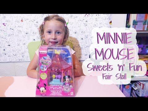 Otvaranje igracke Minnie Mouse Set / Unboxing DISNEY TOYS Minnie's SHOP Sweets and Fun Fair Stall