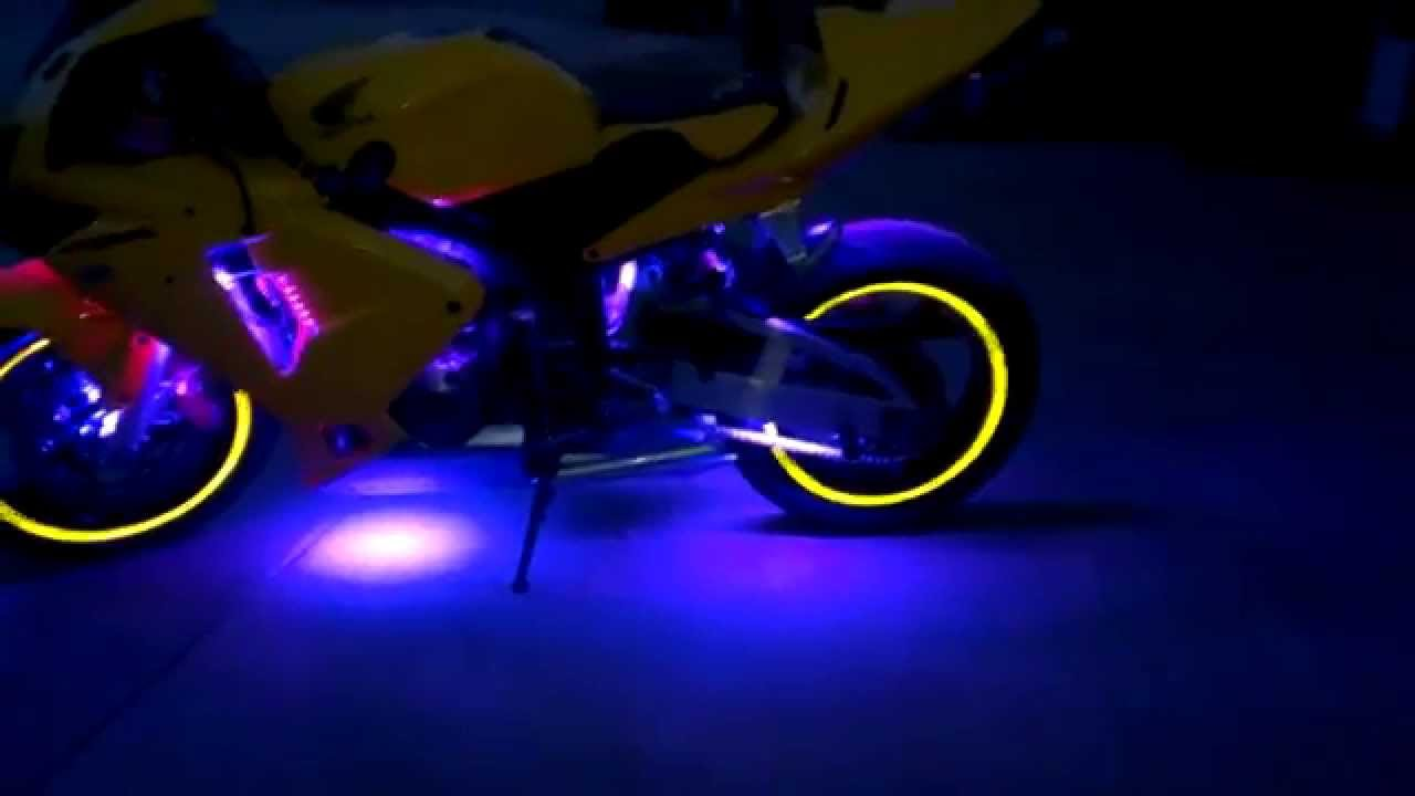 2014 Cbr600rr Advanced Led Glow Update Youtube Bicycle Lightings
