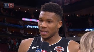 Giannis Antetokounmpo Postgame Interview - Bucks vs Rockets | October 24, 2019 | 2019-20 NBA Season