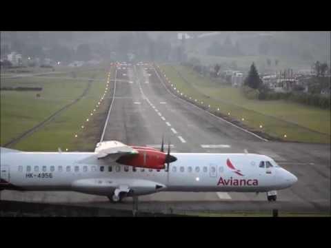 ATR72-600 Landing in Lukla of Colombia? -  [HD 1080p]