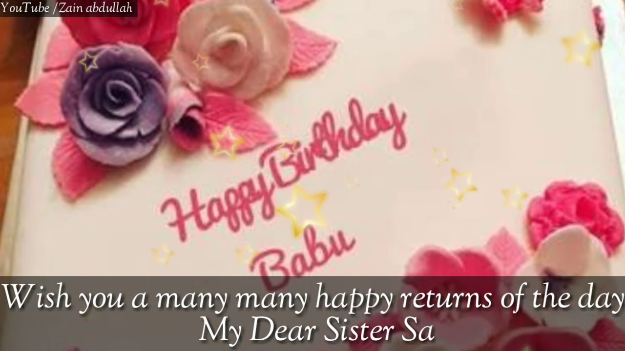 Happy Birthday Sabiya Name Whatsapp Status Youtube