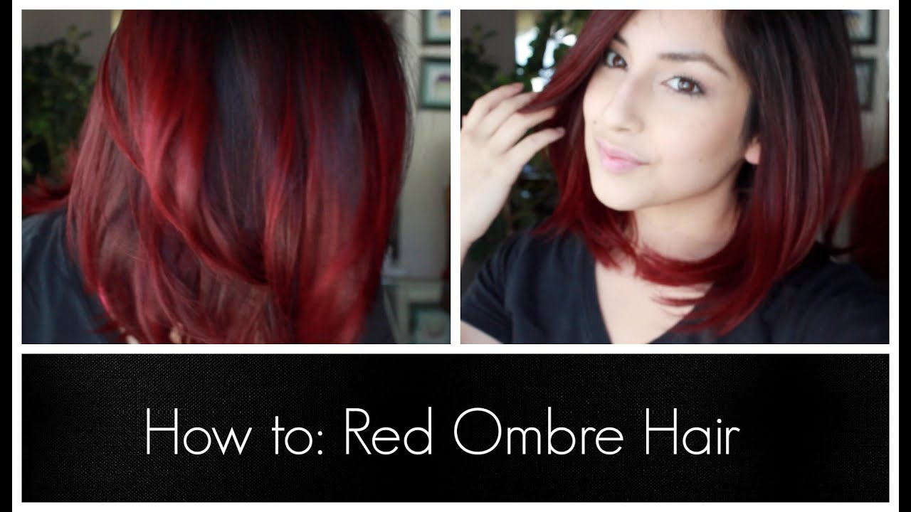 How To Red Ombre Hair Youtube
