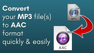 How to Convert MP3 to AAC (PC & Mac users only)