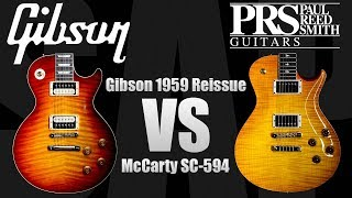PRS Wood Library McCarty 594 vs Gibson 1959 Reissue Les Paul with Tom Quayle ギブソン 検索動画 45