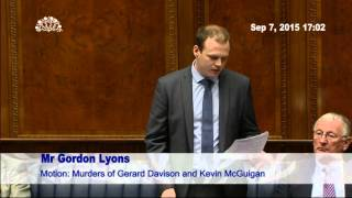 New East Antrim MLA Gordon Lyons Makes Maiden Speech in Assembly