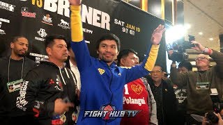 VEGAS STILL LOVES MANNY! MANNY PACQUIAO'S LAS VEGAS GRAND ARRIVAL FOR HIS BRONER FIGHT