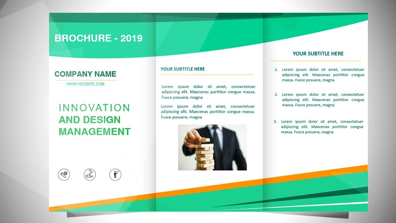 how to make a brochure in powerpoint - design 4