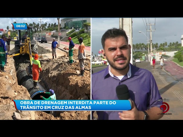 Seminfra realiza obra de drenagem no bairro de Cruz das Almas