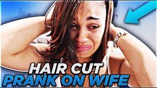 """HAIRCUT PRANK ON WIFE"" GETS VERY EMOTIONAL (SHE CRIED)"