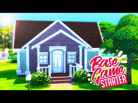 BASE GAME STARTER HOUSE! 🏡 | THE SIMS 4 SPEED BUILD thumbnail