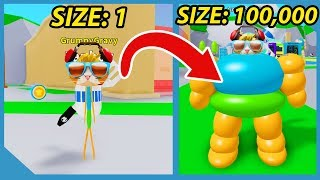 Becoming The Biggest Player In Roblox Om Nom Simulator