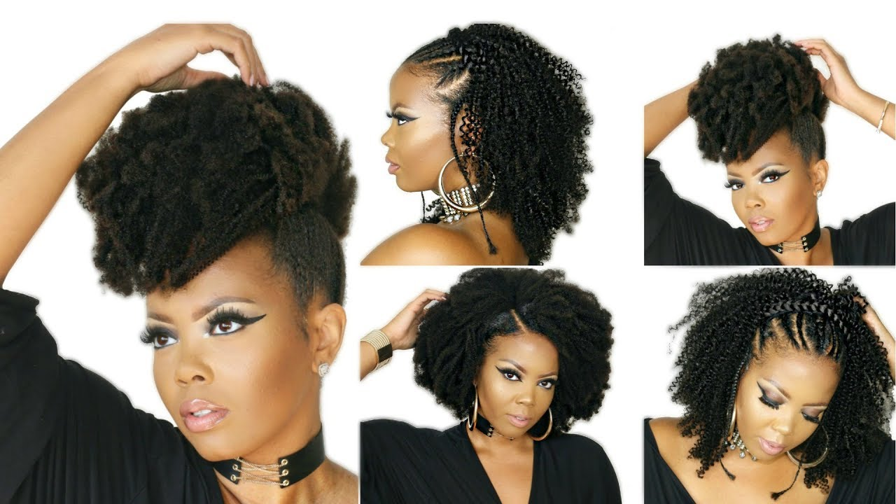 How To Style 4c Natural Hair W Kinky Curly Clip In Extensions
