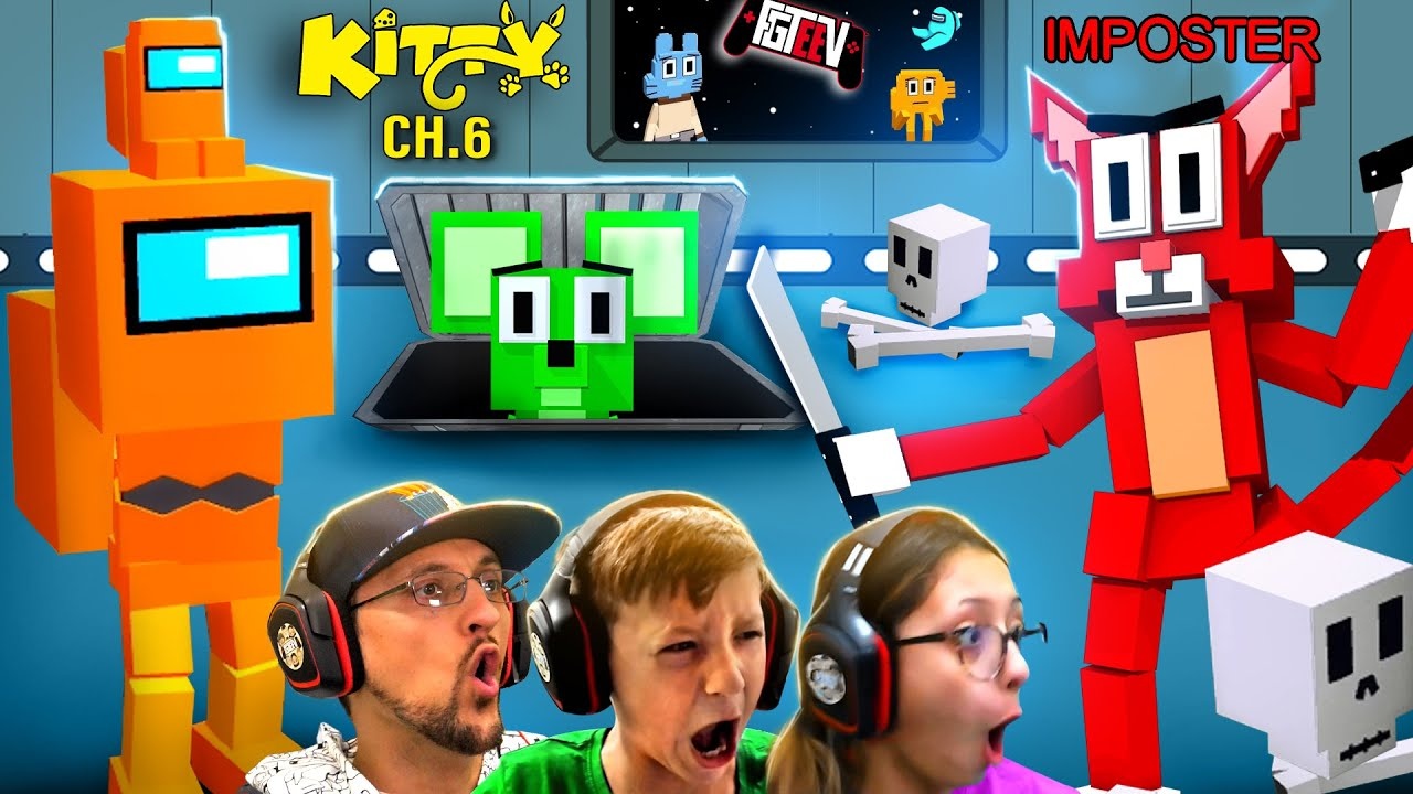Download ROBLOX KITTY the IMPOSTOR!  Chapter 6: The Amazing World of Gumball (FGTeeV w/ Among Us Skins)