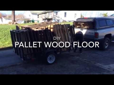 DIY RECLAIMED PALLET WOOD FLOOR