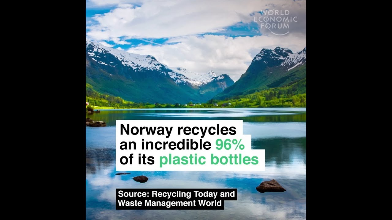 Norway recycles an incredible 96% of its plastic bottles