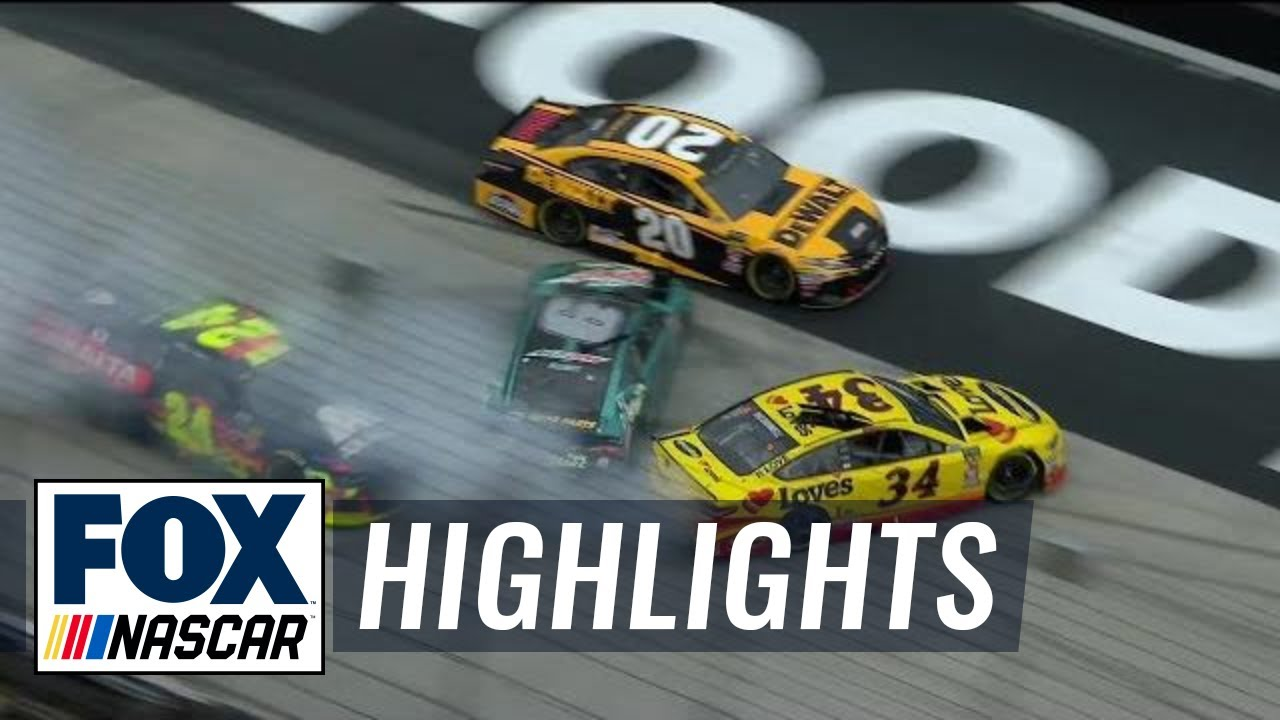 Michael McDowell triggers pileup with Chase Elliott |  2018 BRISTOL MOTOR SPEEDWAY