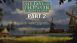 Medal of Honor Frontline Gameplay Walkthrough Part 2 - Rough Landing