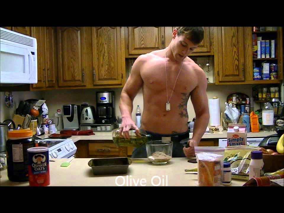 Shirtless Chef Cooking For Six Pack Abs  Healthy Protein