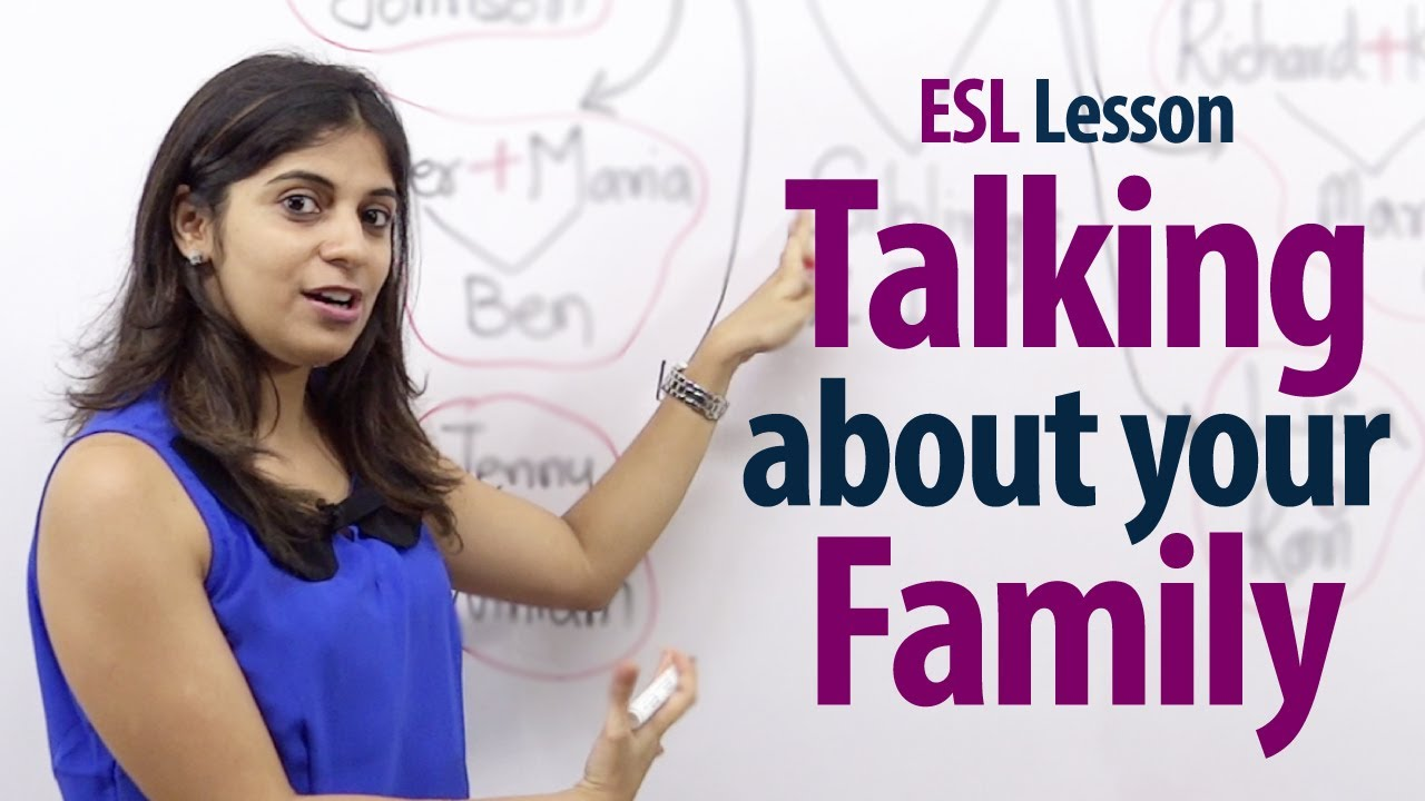 How to talk about your family english lesson free esl lessons youtube