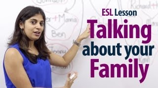 How to talk about your family? - English Lesson ( Free ESL Lessons) thumbnail