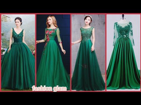 floor-length-hunter-green-tulle-evening-maxi-gowns/applique-lace-modest-prom-dress