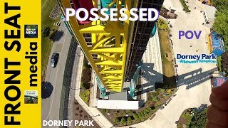 dorney park possessed pov roller coaster front seat gopro hd video on ride intamin