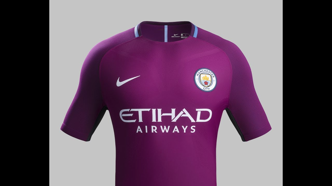 Nike Manchester City 2017 18 Away Jersey - YouTube c11a615f6