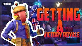 GETTING A VICTORY ROYALE!!! (Fortnite Battle Royale)