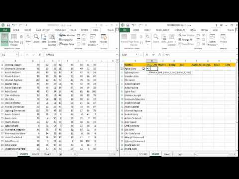 LETTER GRADE CALCULATION FOR HIGHER INSTITUTIONMS EXCEL 2013