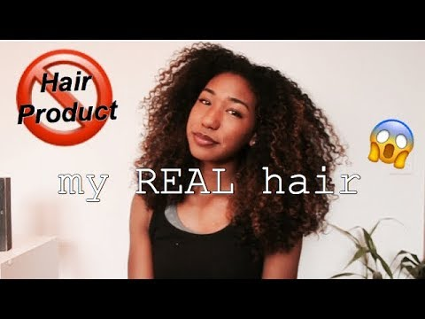 No Product Challenge | My Natural Hair Without Any Products