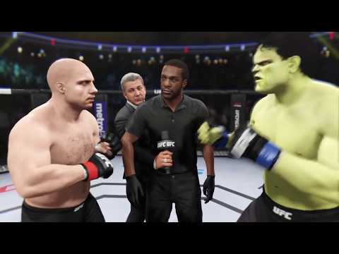 Fedor Emelianenko vs. Hulk (EA sports UFC 2) - CPU vs. CPU