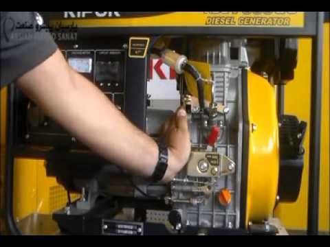 Kipor Diesel Generator KDE7000E3 first start and How to change oil and  filters