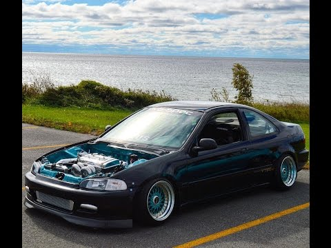 Honda civic coupe 94 turbo 20 190km youtube for 94 honda civic