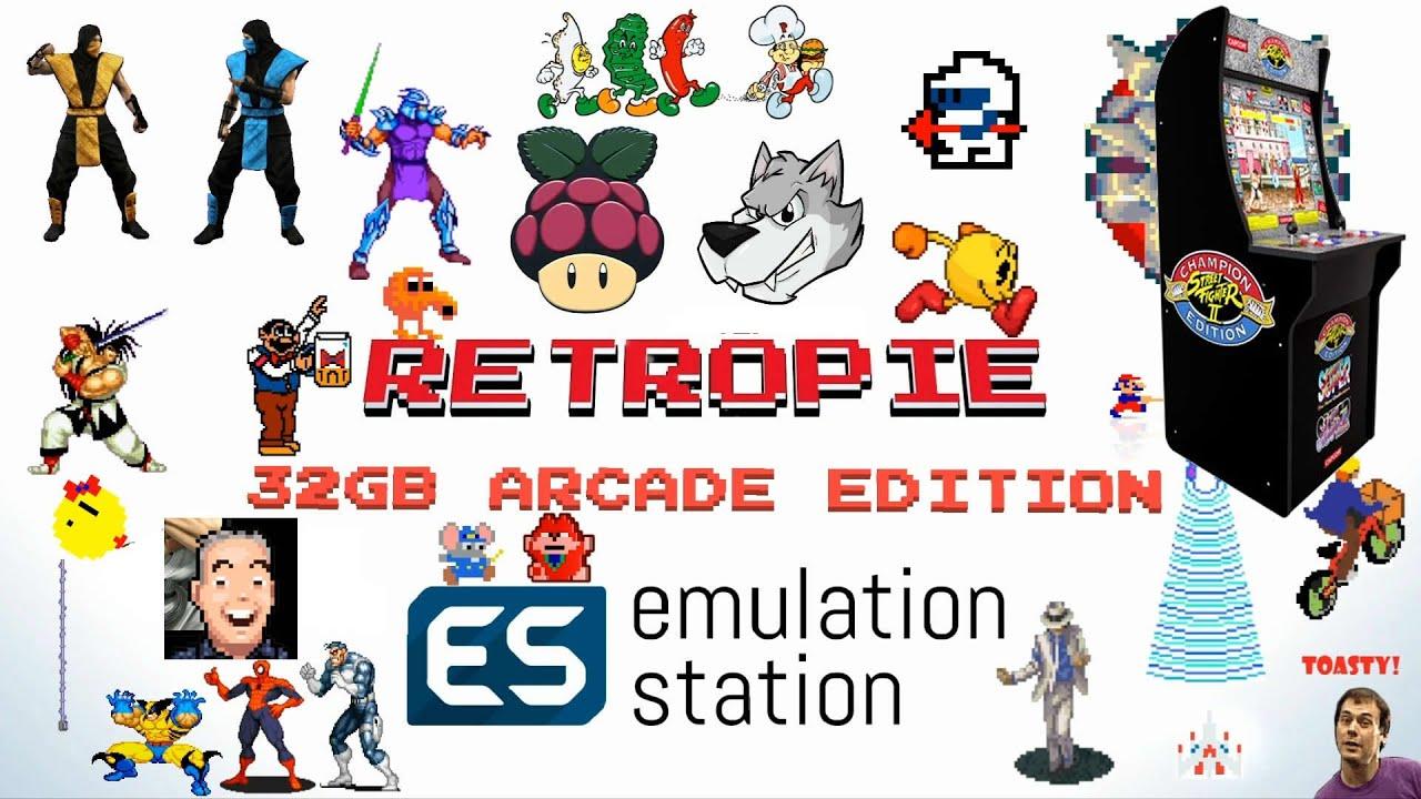 Arcade1Up Pi 3 Expansion 32gb Retropie 4 5 MAME - 2,424 Games