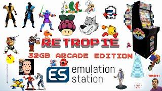 Arcade1Up Pi 3 Expansion 32gb Retropie 4.5 MAME - 2,424 Games