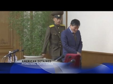American detained in North Korea says he's sorry for spying