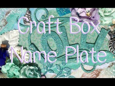 Craft Box April Mixed Media Seashell Name Plate