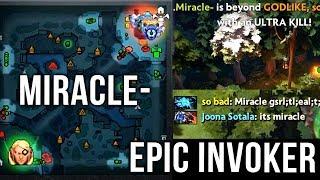 Miracle- Most EPIC Invoker 2018 CRAZY Base Race - Refresher Orb + Octarine Build - Dota 2